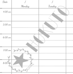 Hourly Planner - Free Downloadable