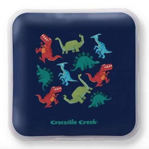 Crocodile Creek Ice Pack Set of 2 - Dinosaurs. Lunch Box Ice Pack Set. Two Ice Packs per set. Keeps food chilled for approx. 4 hours. Perfect for travel or school. BPA & Phthalate Free. Recommended Age: 3+. Hand washing recommended.