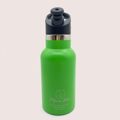 Mama Bear Stainless Steel Double Wall Insulated Bottle 12oz/355ml Kelly Green