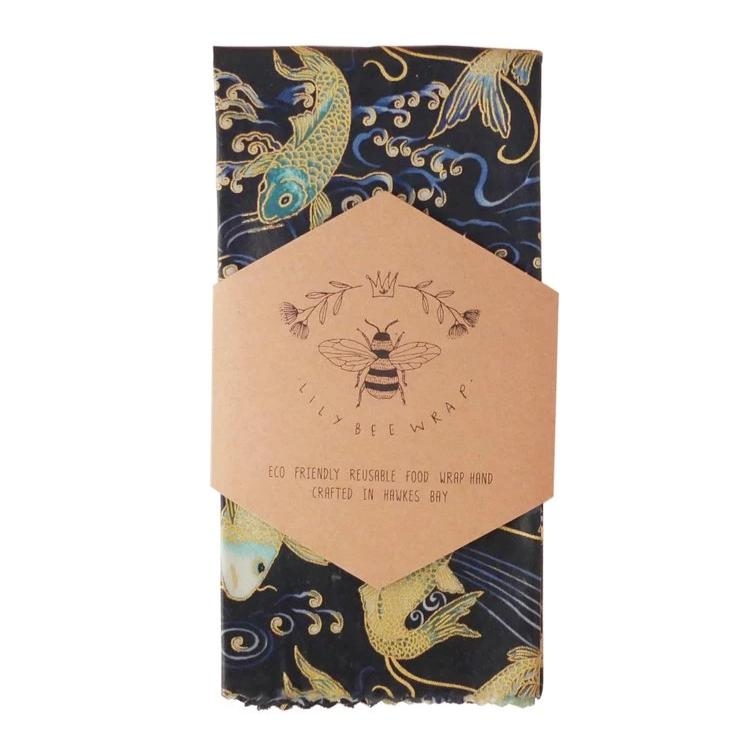 Beeswax Wrap Single XL - Koi Fish