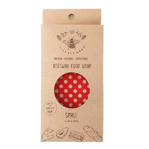 Beeswax Food Wrap Single Small Dots Package