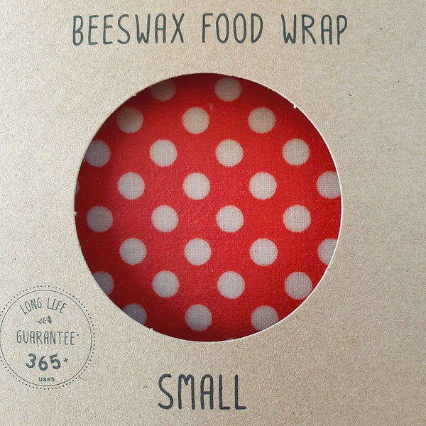 Beeswax Food Wrap Single Small Dots Pattern