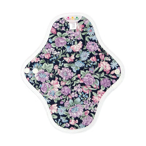 hannahpad Certified Organic Cloth Pad | Pantyliner 2pk | Carnation Black