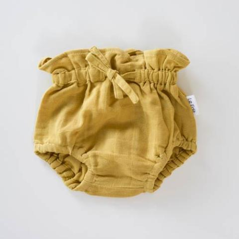 Organic Cotton Chloe Bloomers Sunshine - Last Sizes 0-3M & 3-6M-HOKUTO