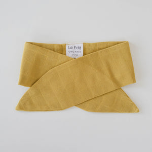 Le Edit Organic Cotton Classic Headband Sunshine