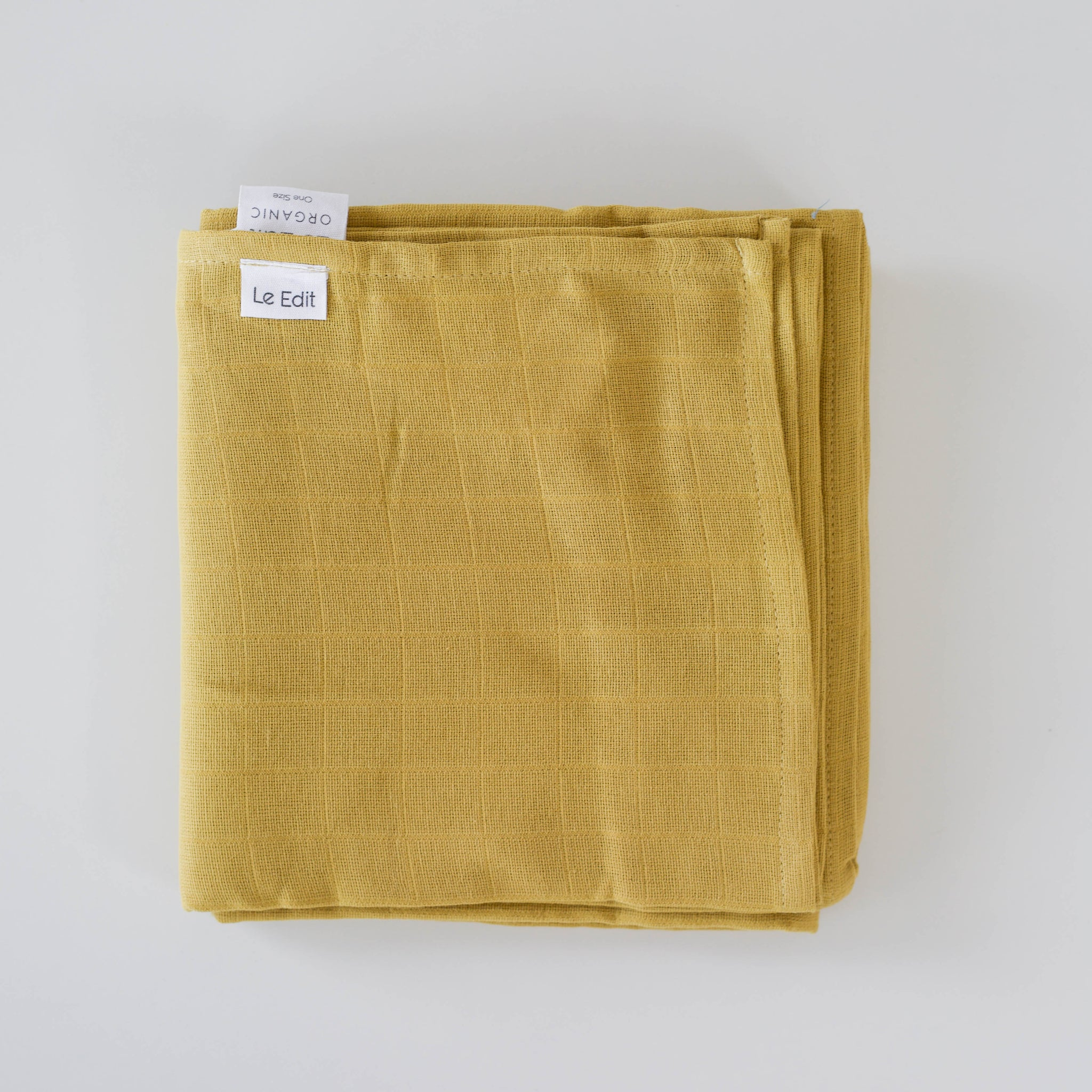 Le Edit Organic Cotton Baby Swaddle Wrap Sunshine