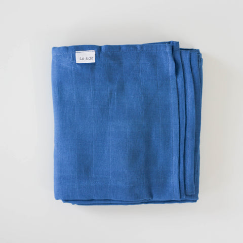 Le Edit Organic Cotton Baby Swaddle Wrap Sky