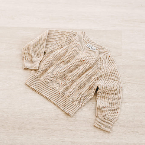 Le Edit Cotton Sprinkle Bikkies Knit Jumper