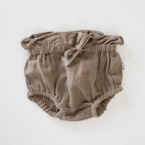 Le Edit Organic Cotton Chloe Bloomers Stone