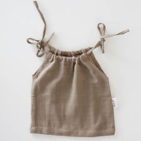 Le Edit Organic Cotton Marni Singlet Stone