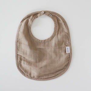 Le Edit Organic Cotton Classic Bib Stone