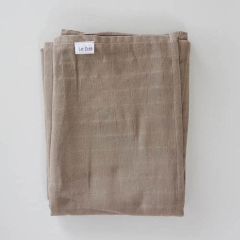 Le Edit Organic Cotton Baby Swaddle Wrap Stone