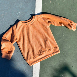 Rain Terry Track Sweater - Ginger