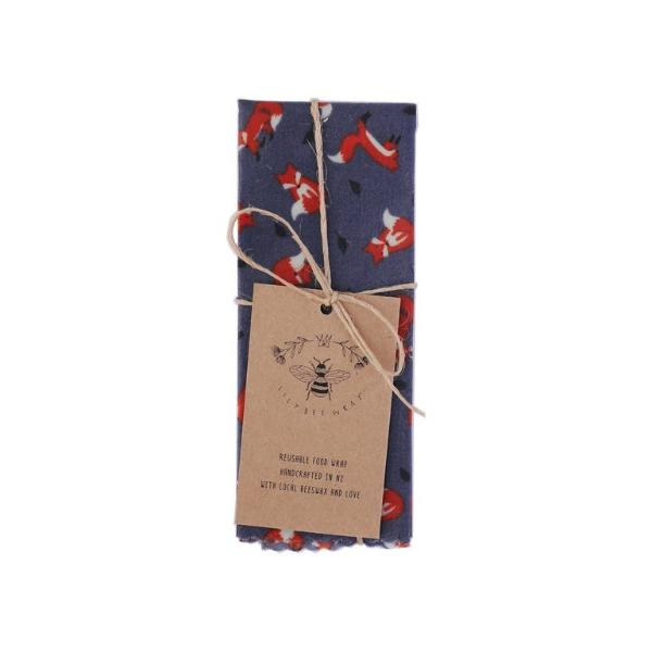 LilyBee Wrap Reusable Beeswax Wrap Single M - Foxy