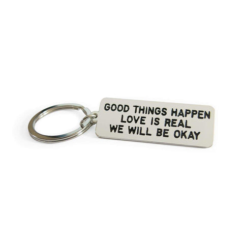 Adam J. Kurtz Good Things Happen Keychain