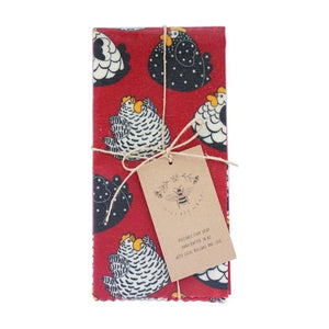 LilyBee Reusable Beeswax Wrap Single XL - Hens