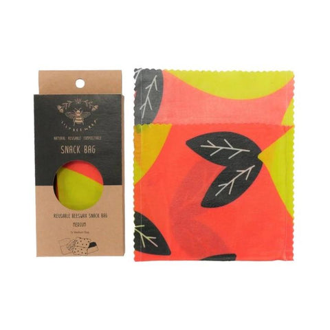 Medium Snack Bag - Lemons (Organic Cotton)