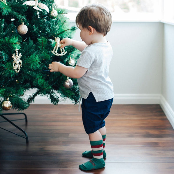 Merino Crew Socks Xmas Limited Edition Elf Child Model 5