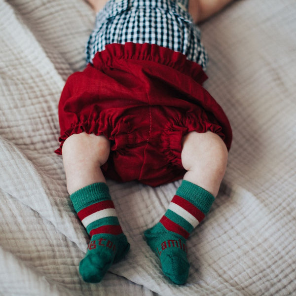Merino Crew Socks Xmas Limited Edition Elf Baby Model 1