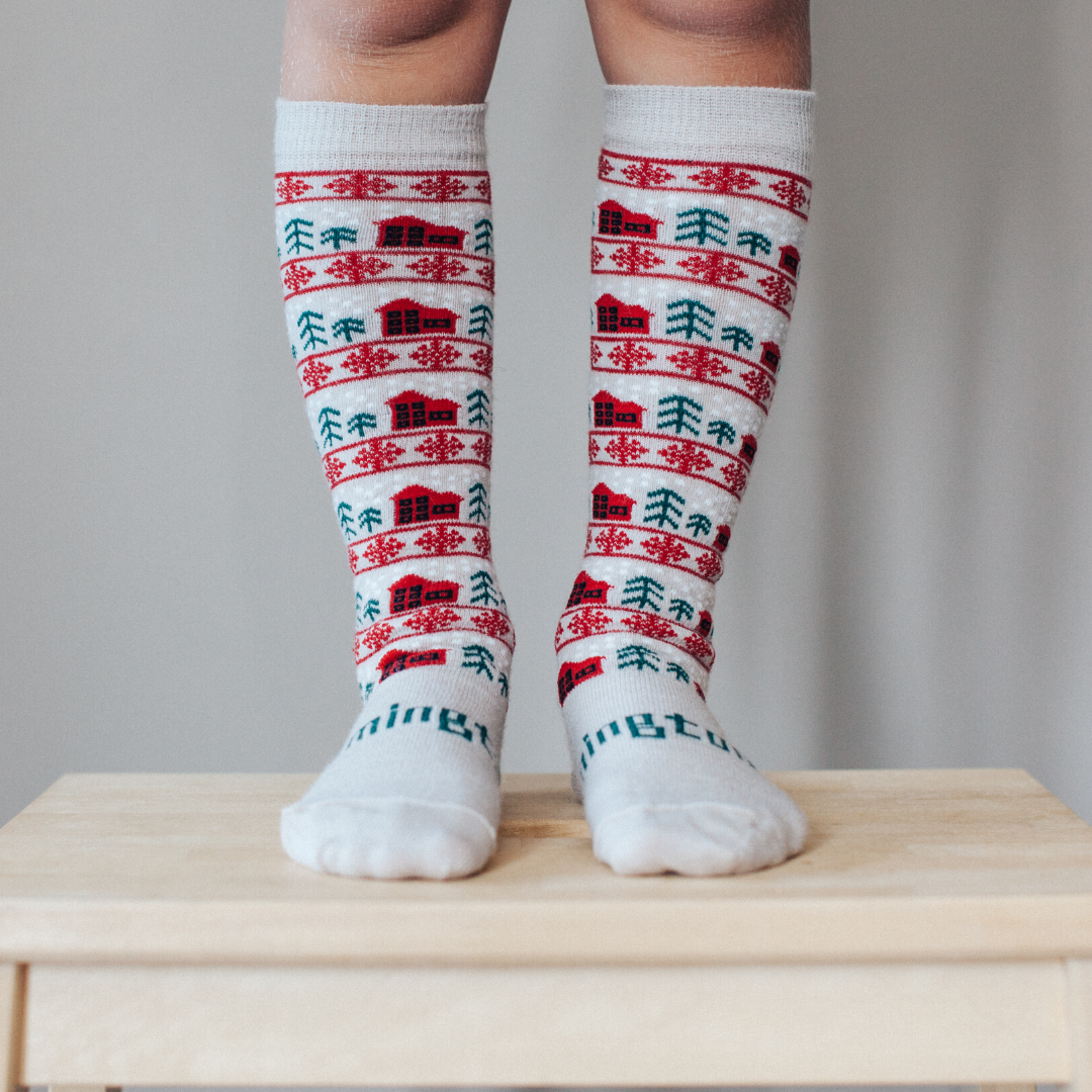 Merino Knee-High Socks Xmas Limited Edition Jingle Child Leg 1