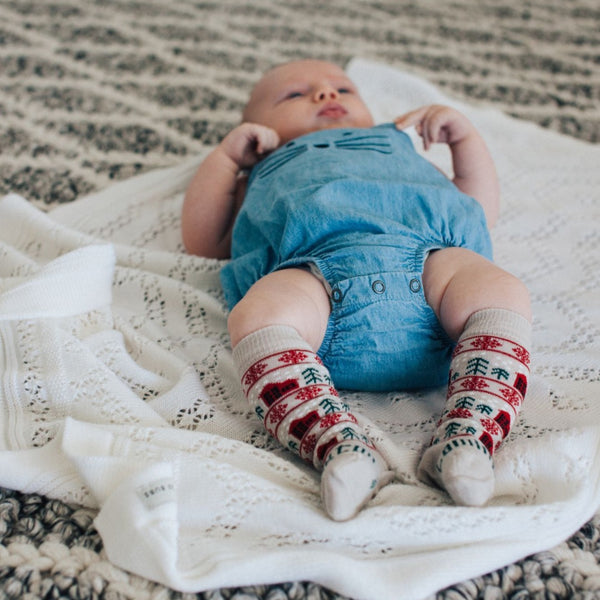 Merino Knee-High Socks Xmas Limited Edition Jingle Baby Model 4