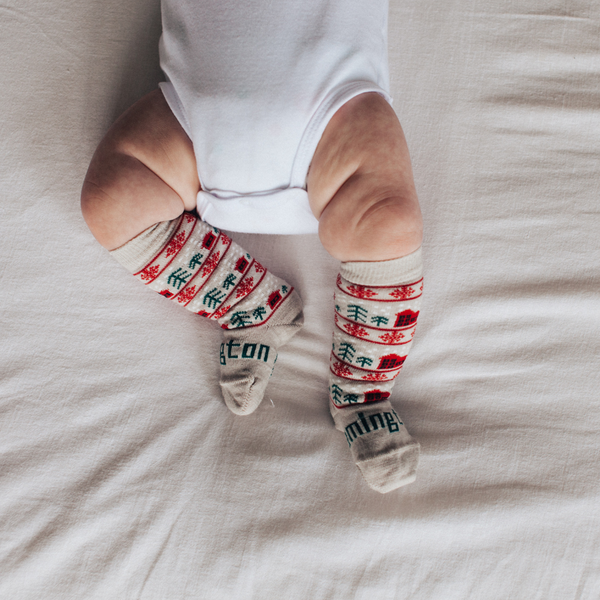 Merino Knee-High Socks Xmas Limited Edition Jingle Baby Leg 1
