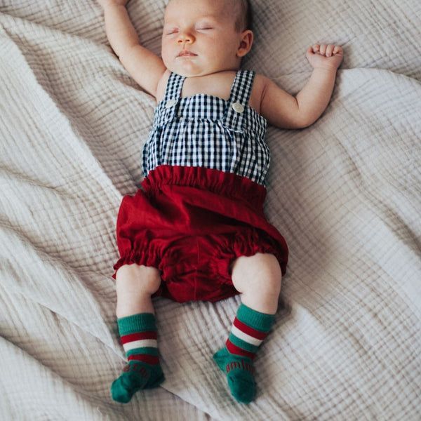 Merino Crew Socks Xmas Limited Edition Elf Baby Model 2