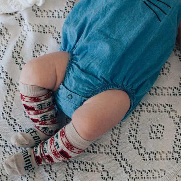 Merino Knee-High Socks Xmas Limited Edition Jingle Baby Model 1