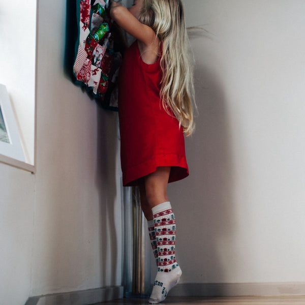 Merino Knee-High Socks Xmas Limited Edition Jingle Child Model 3