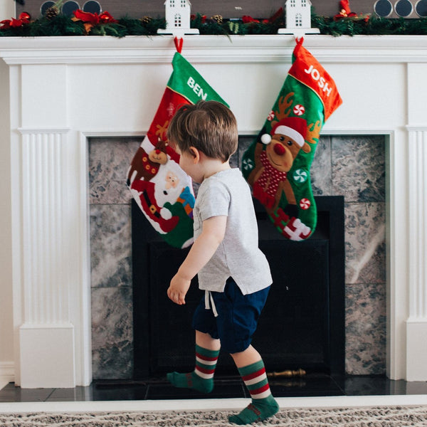 Merino Crew Socks Xmas Limited Edition Elf Child Model 2