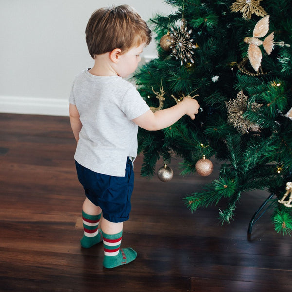 Merino Crew Socks Xmas Limited Edition Elf Child Model 6