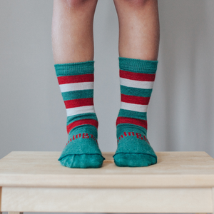 Merino Crew Socks Xmas Limited Edition Elf Child Leg 1