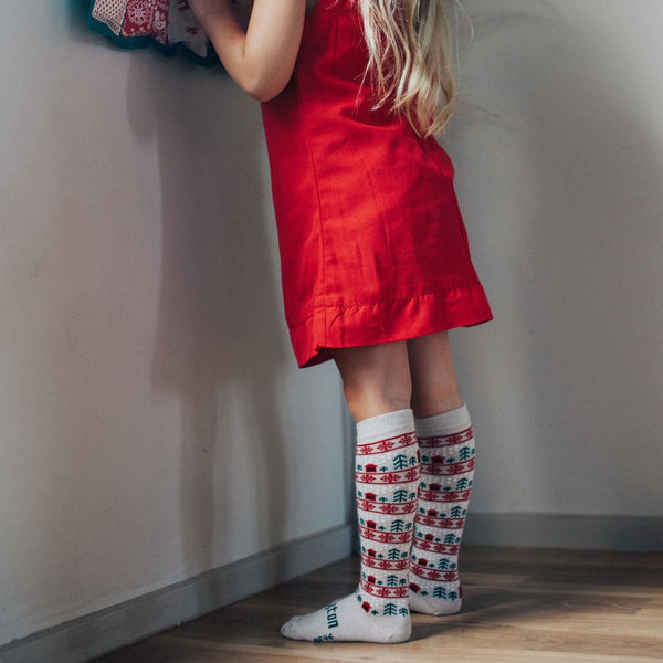 Merino Knee-High Socks Xmas Limited Edition Jingle Child Model 2