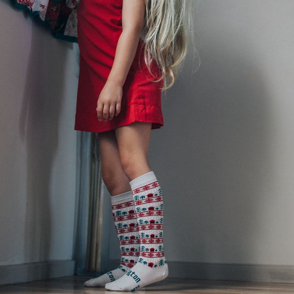 Merino Knee-High Socks Xmas Limited Edition Jingle Child Model 1