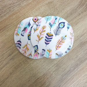 Reusable Breast/Nursing Pads - Feathers