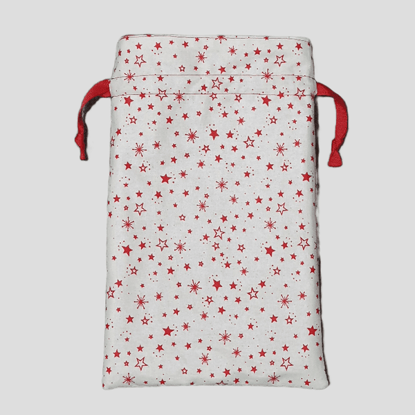 Drawstring Gift Bag Small | Stars opened
