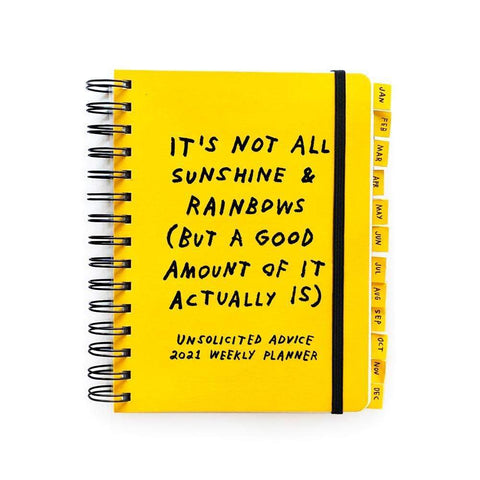 Adam J. Kurtz Unsolicited Advice 2021 Planner with Stickers