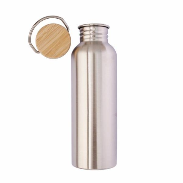 LilyBee Wrap Stainless Steel Water Bottle 750ml Bamboo Lid