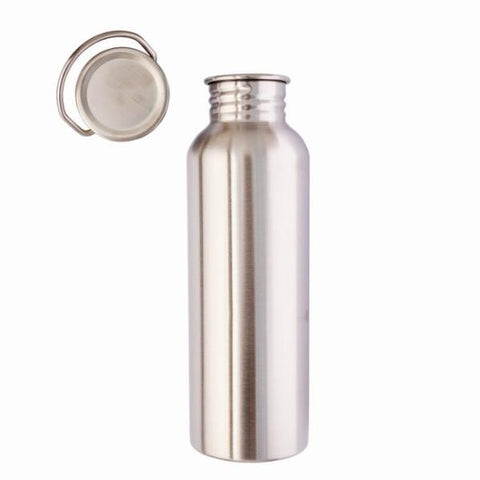 LilyBee Wrap Stainless Steel Water Bottle 750ml Metal Lid