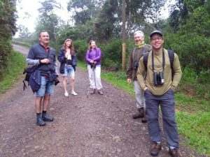 Pat with frinds and Wunderbird shirt at the rain forest of Costa Rica