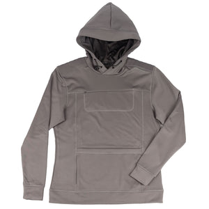 Gyrfalcon bird watcher hoodie in charcoal gray