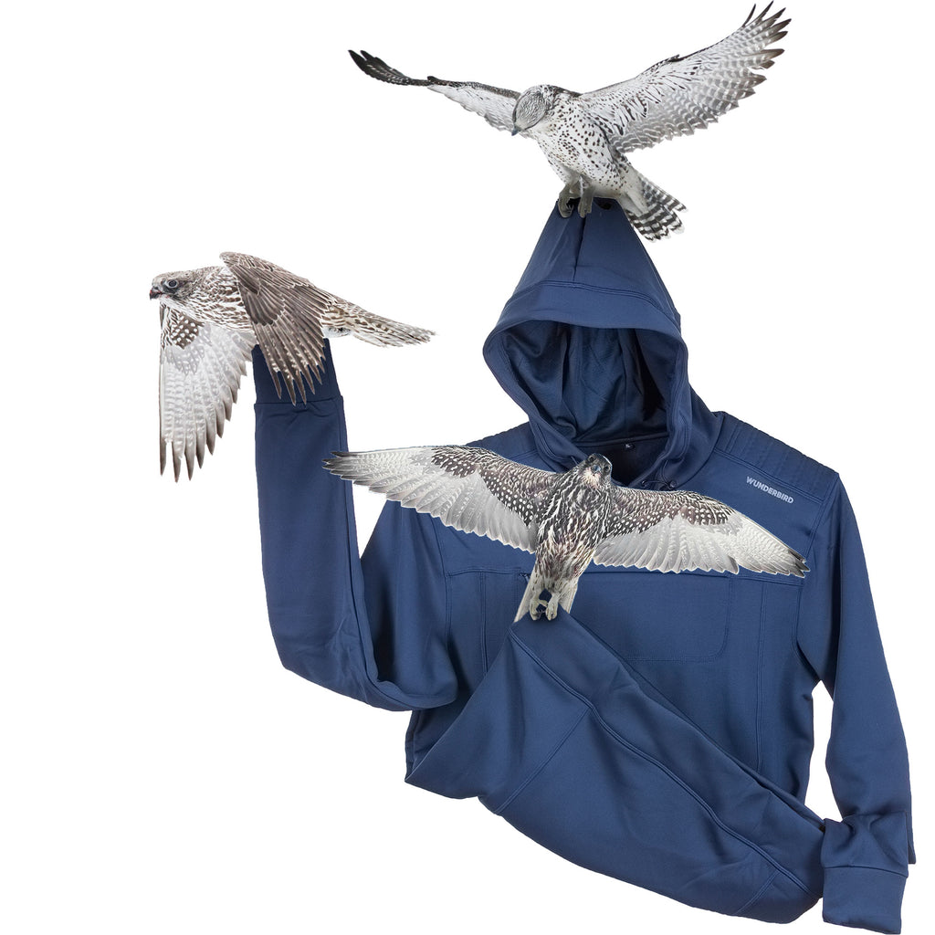 The Gyrfalcon Hoodie for extreme bird watching. A unique birding apparel design.