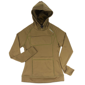The Gyrfalcon bird watching Hoodie for women - olive green