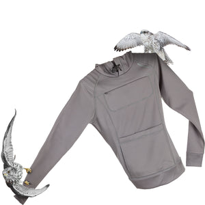 The Gyrfalcon for extreme bird watching Hoodie for women - gray
