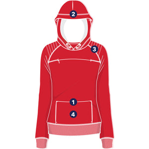 The Gyrfalcon bird watching Hoodie for women - diagram