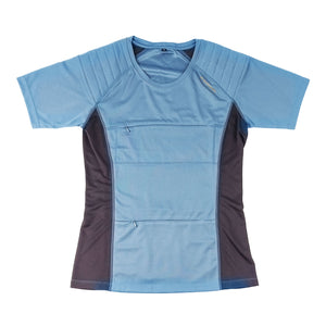 The Kestrel Short Sleeve birding t-shirt in blue