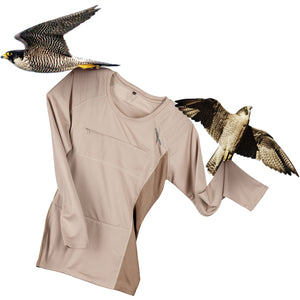 The Peregrine Long Sleeved Tee for female birdwatchers