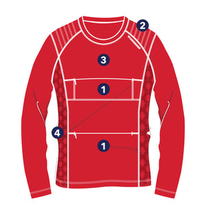 The Peregrine Long Sleeved Tee - diagram