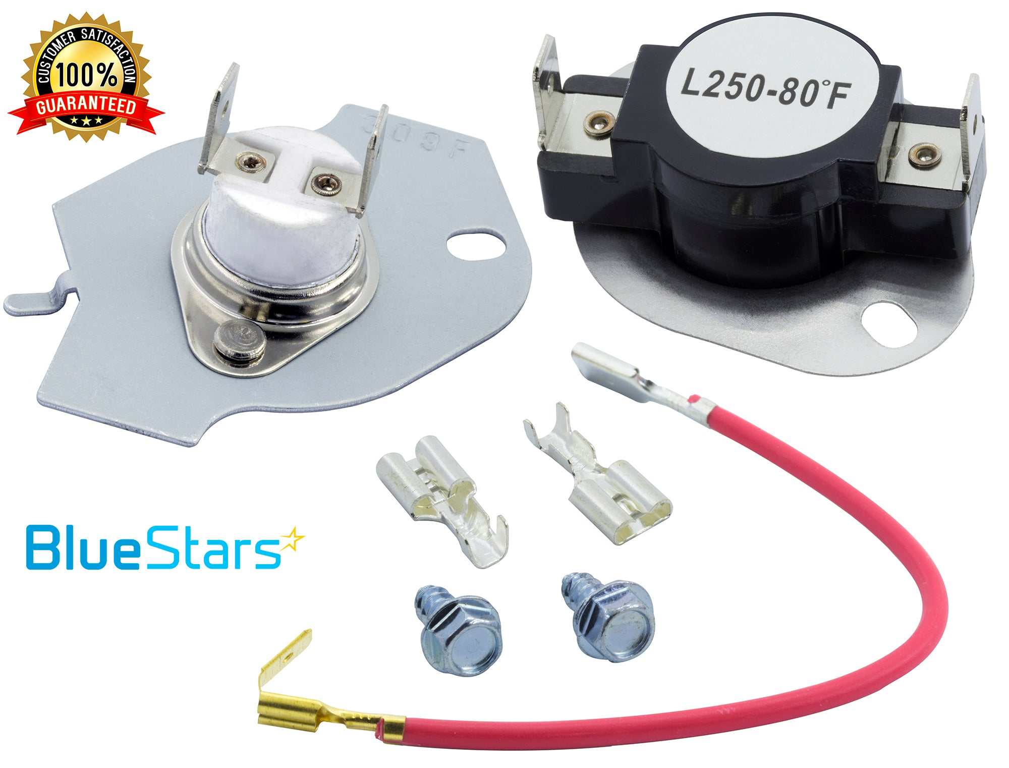 Dryer Thermostat Kit Replacement by Blue Stars Exact Fit