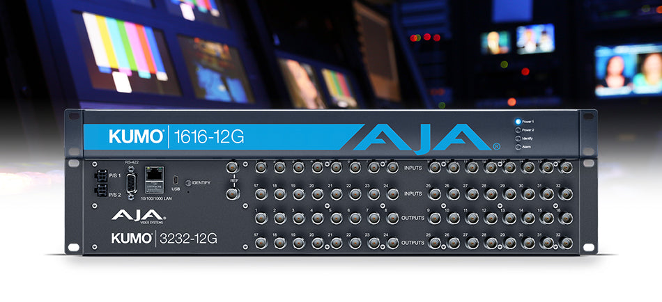 AJA Unveils KUMO 3232-12G and KUMO 1616-12G Routers